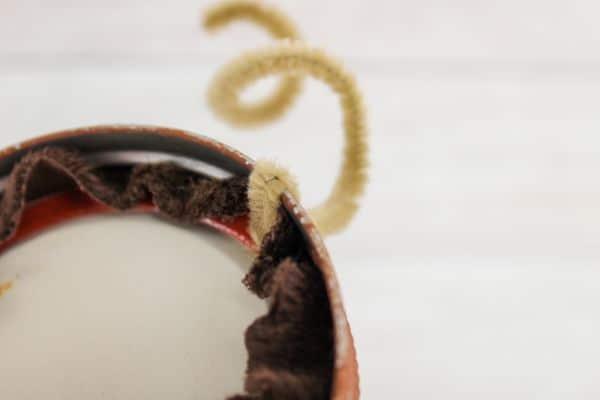 how to put antlers on DIY Mason Jar Lid Reindeer Ornament