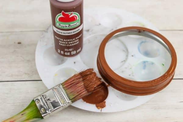 how to make DIY Mason Jar Lid Reindeer Ornament