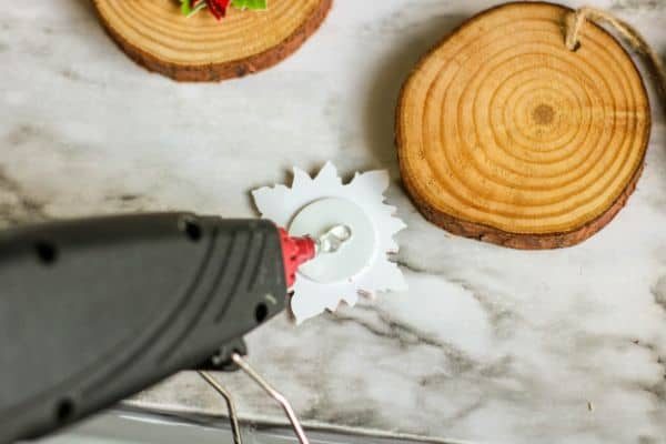 instructions for making Wood Slice Ornaments