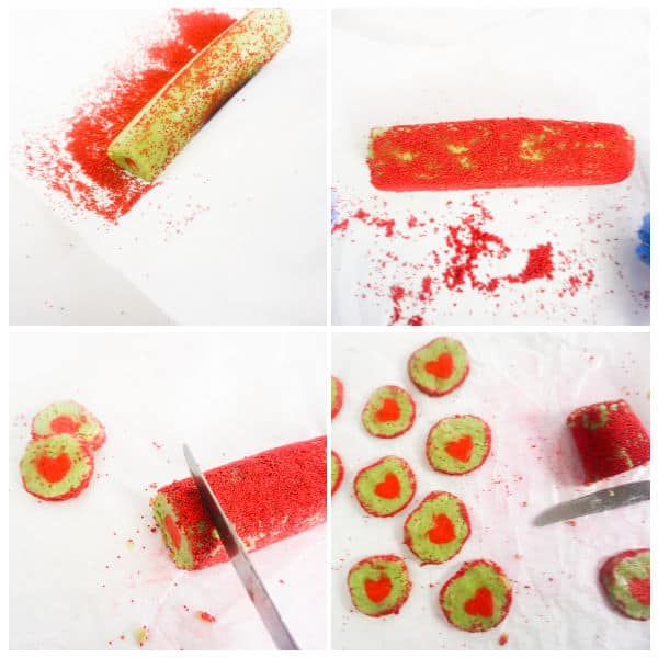 steps for making Grinch Christmas cookies
