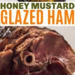 honey mustard glazed ham in the crockpot