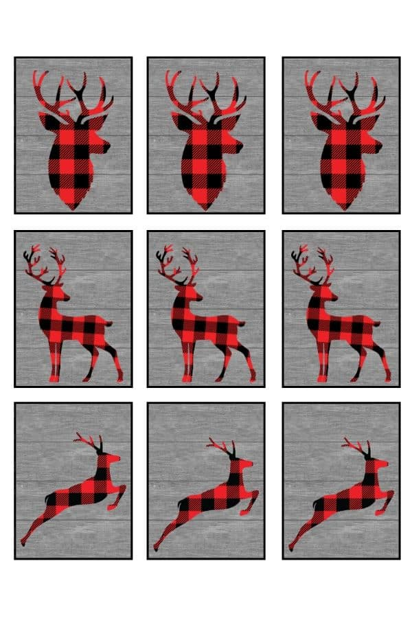 rustic plaid Christmas gift tags