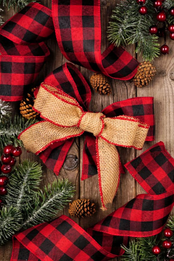 buffalo plaid Christmas tags