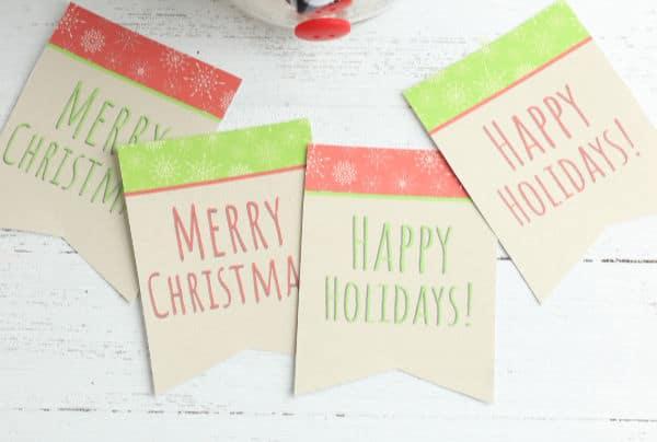 printable gift tags for Snowman jar