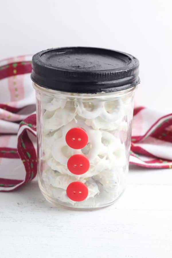 how to make snowman gift in a jar