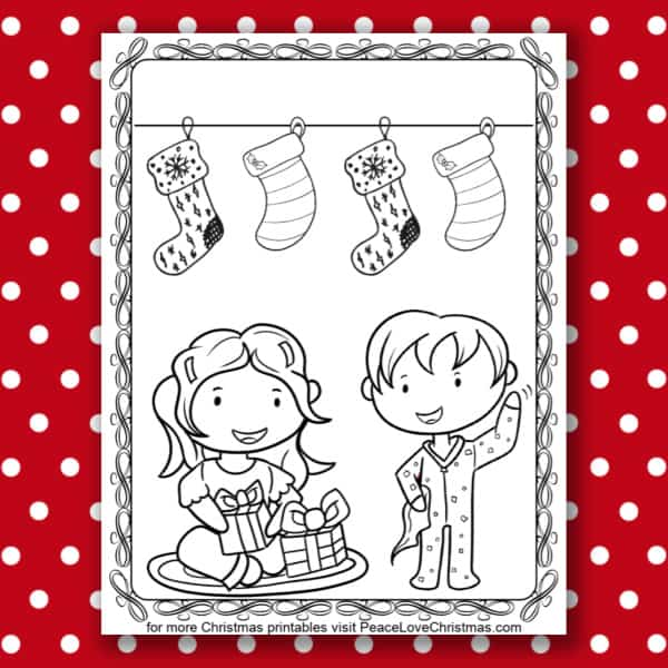 Printable Christmas Morning Coloring Page