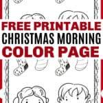 Printable Christmas Morning Coloring Page