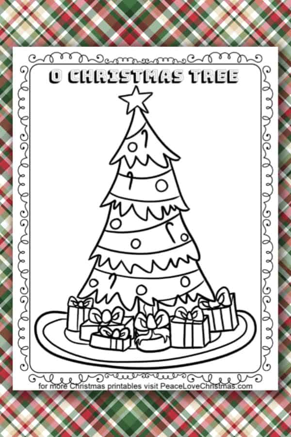 Printable Christmas Tree Coloring Page