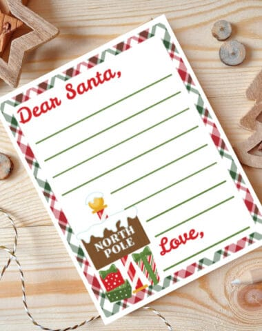 free Santa letter template