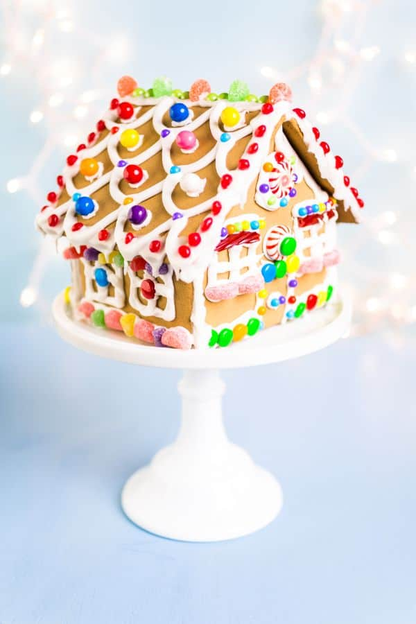 how to make a gluten-free gingerbread house
