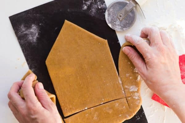 making a gluten-free gingerbread house