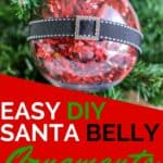 Santa Belly Ornaments for Christmas
