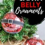 easy Santa Belly Ornaments for Christmas
