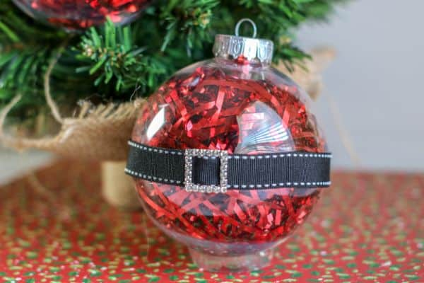 easy Santa Belly Ornaments