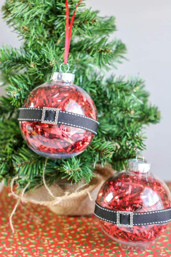 easy DIY Santa Belly Ornaments