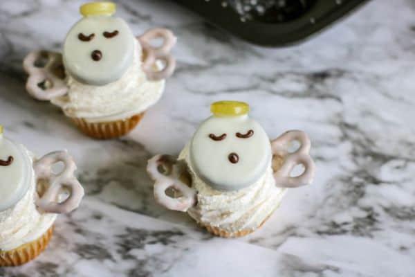 Christmas Angel Cupcakes