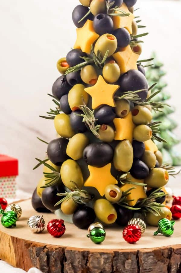 Cheese and Olive Christmas appetizer tree