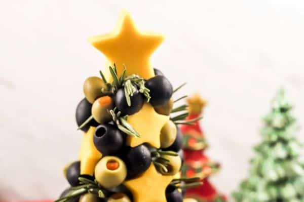 top of a Christmas appetizer tree