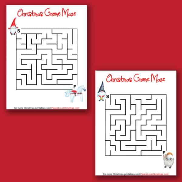 printable Christmas mazes
