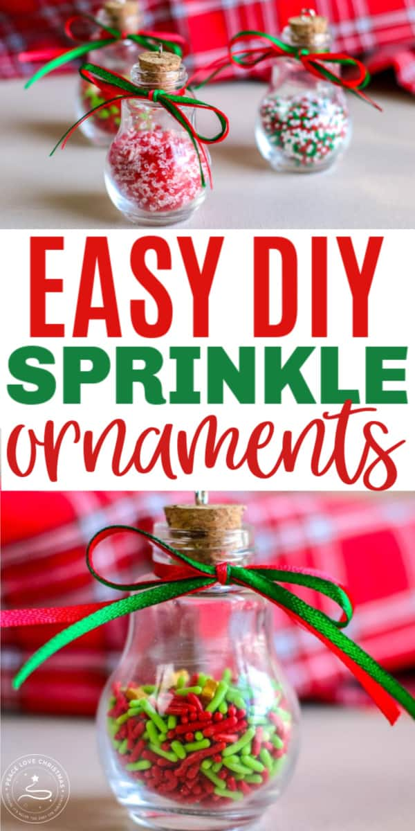 Easy DIY candy sprinkle ornaments