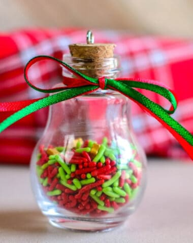 candy sprinkle ornaments