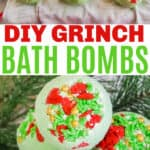Grinch bath bombs