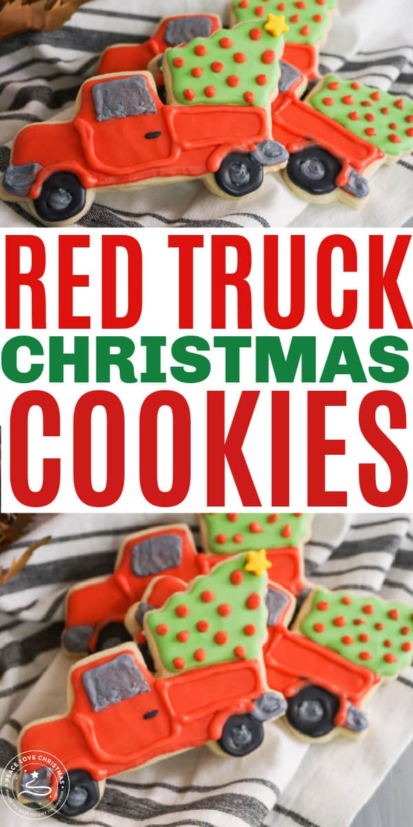 Red Truck Christmas Cookies