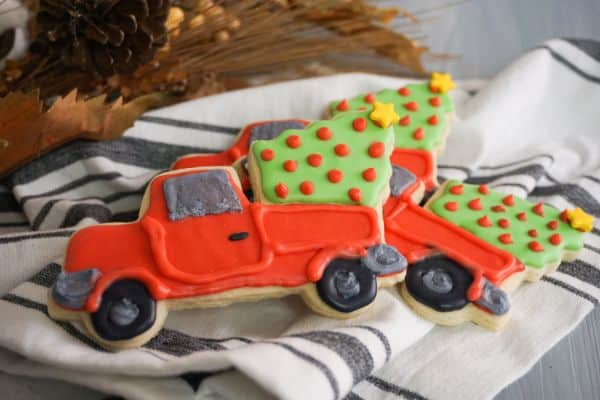 cute Red Truck Christmas Cookies