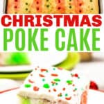 Christmas Jello Poke Cake