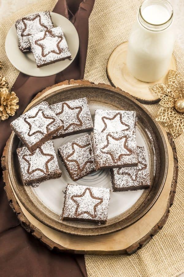 easy gingerbread brownies