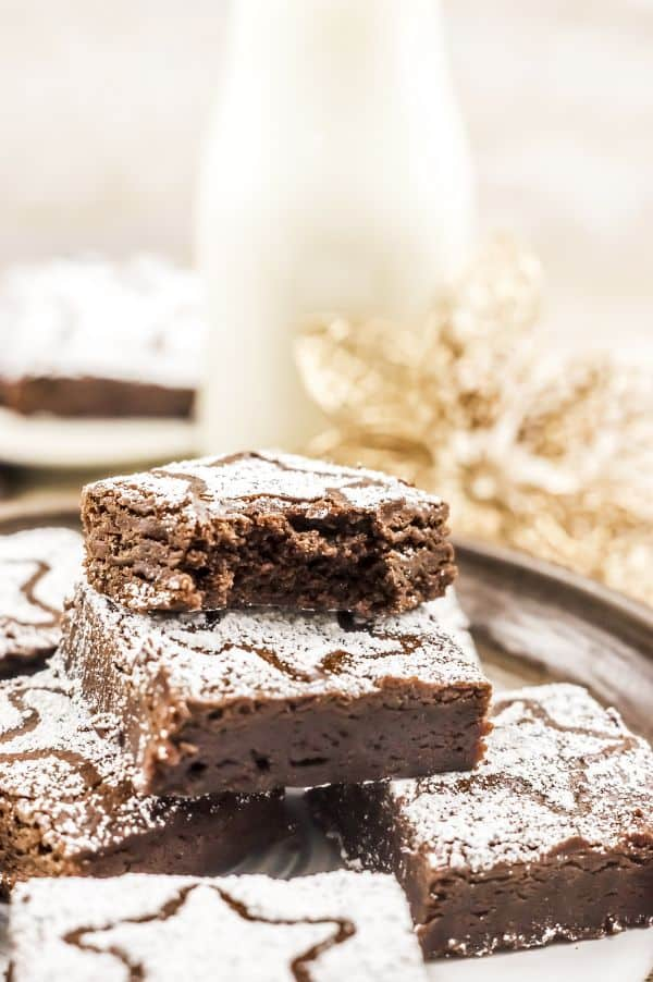 gingerbread brownies for Christmas