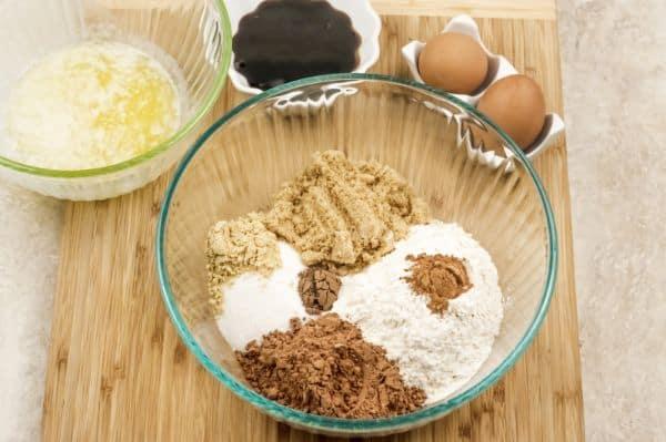 ingredients for gingerbread brownies