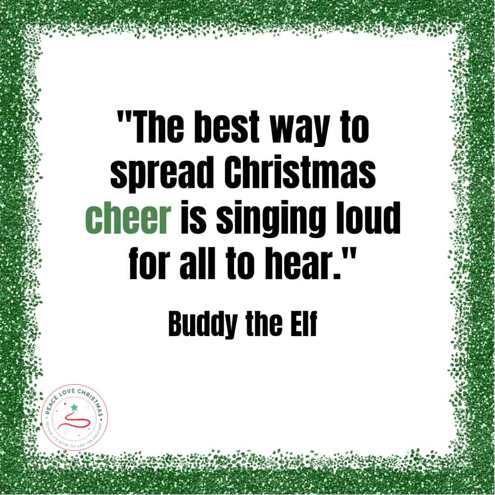 Christmas movie quote from Elf