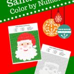 Santa Christmas Color by Number Printable