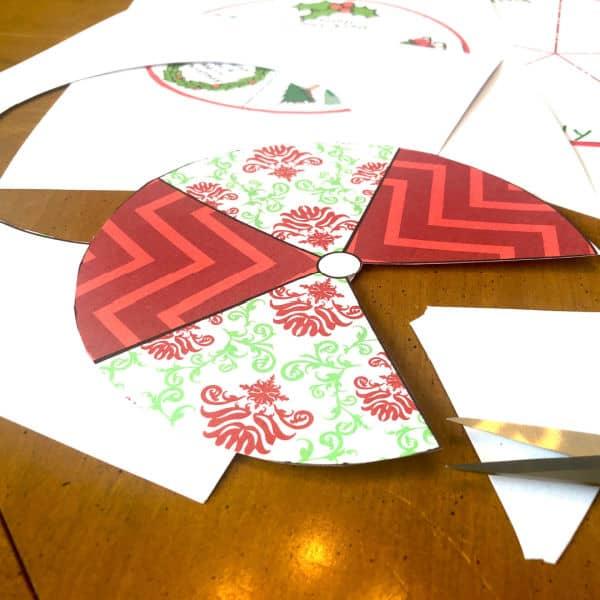 how to make a Printable Christmas Song Spinner Game