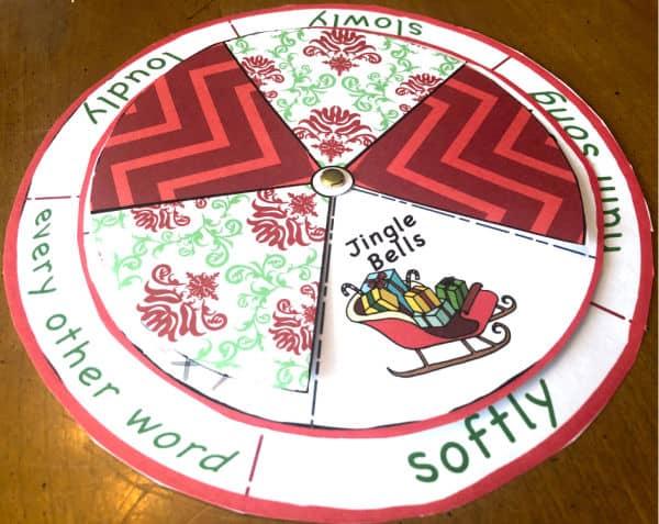 Printable Christmas Song Spinner Game