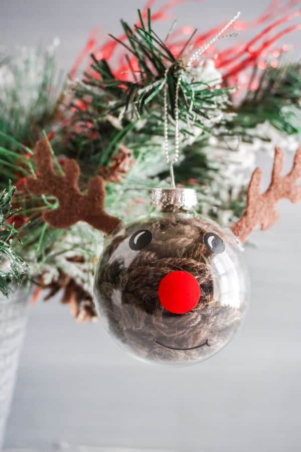 DIY Reindeer Ornament with free svg