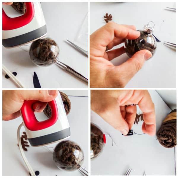 how to heat set vinyl for DIY Reindeer Ornament