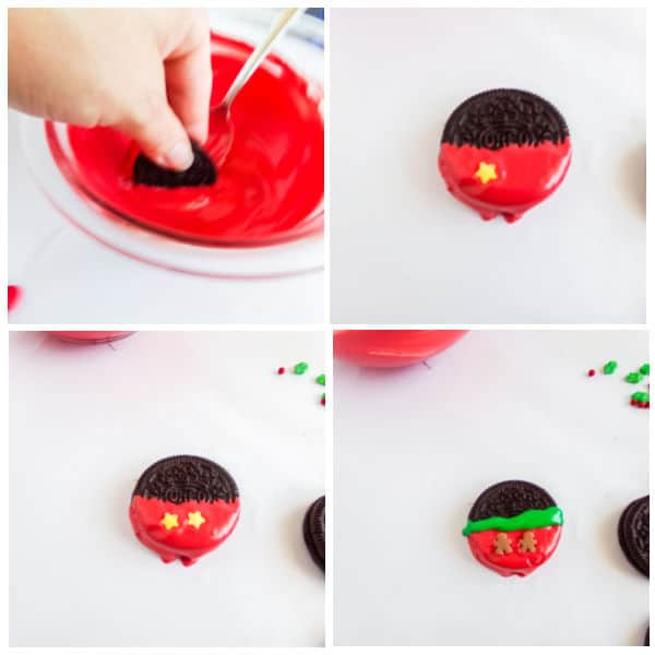how to decorate Easy Mickey Mouse Christmas Cookies