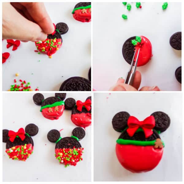 how to make Easy Mickey Mouse Christmas Cookies