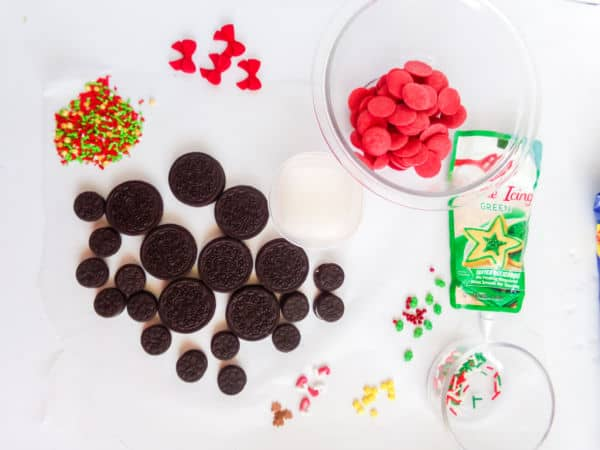 ingredients for Easy Mickey Mouse Christmas Cookies