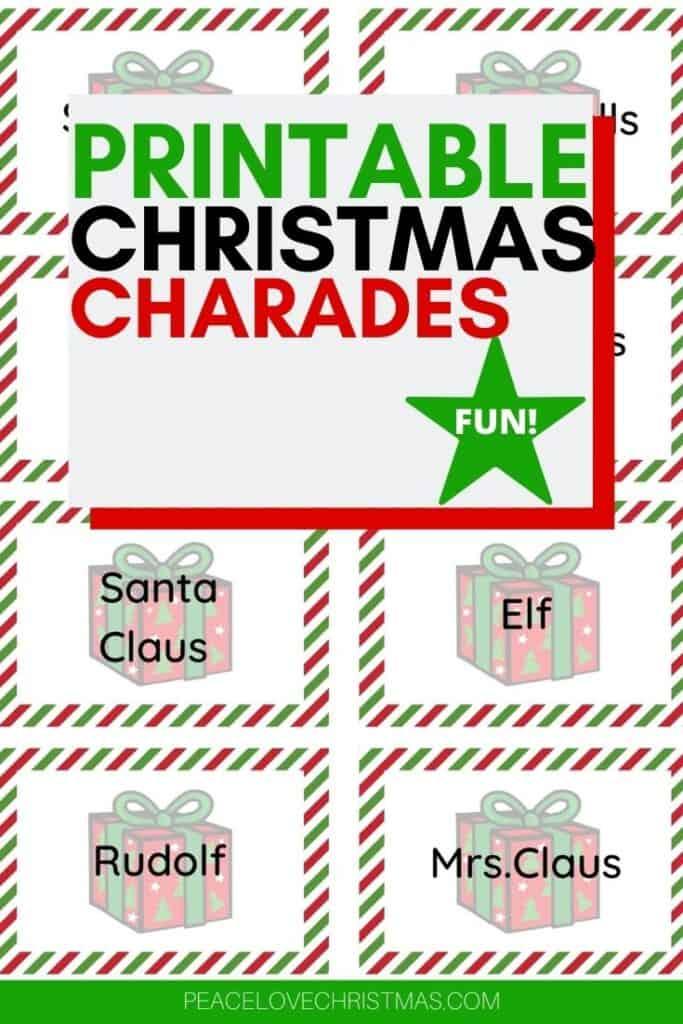 printable Christmas charades