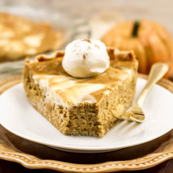 pumpkin cream cheese pie slice