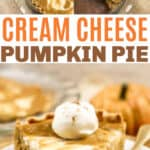Swirled Pumpkin Cream Cheese Pie