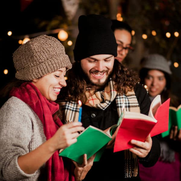 how to have a Christmas Caroling party