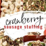Easy Cranberry Sausage Stuffing