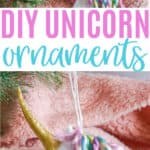 DIY Unicorn Christmas Ornaments with Cricut