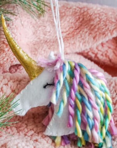 DIY Unicorn Christmas Ornaments with Cricut