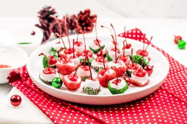 homemade Christmas Chocolate Covered Cherries