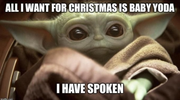 cute Baby Yoda Christmas Memes